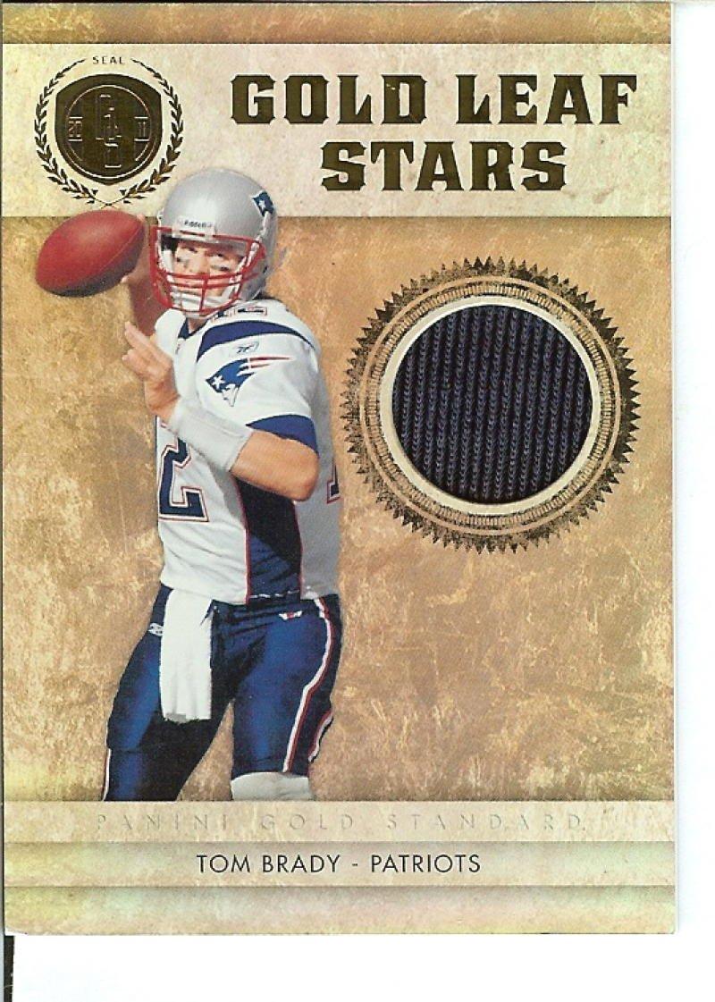 Football NFL 2011 Gold Standard Gold Leaf Stars Materials #1 Tom Brady MEM 46/99 Patriots Panini