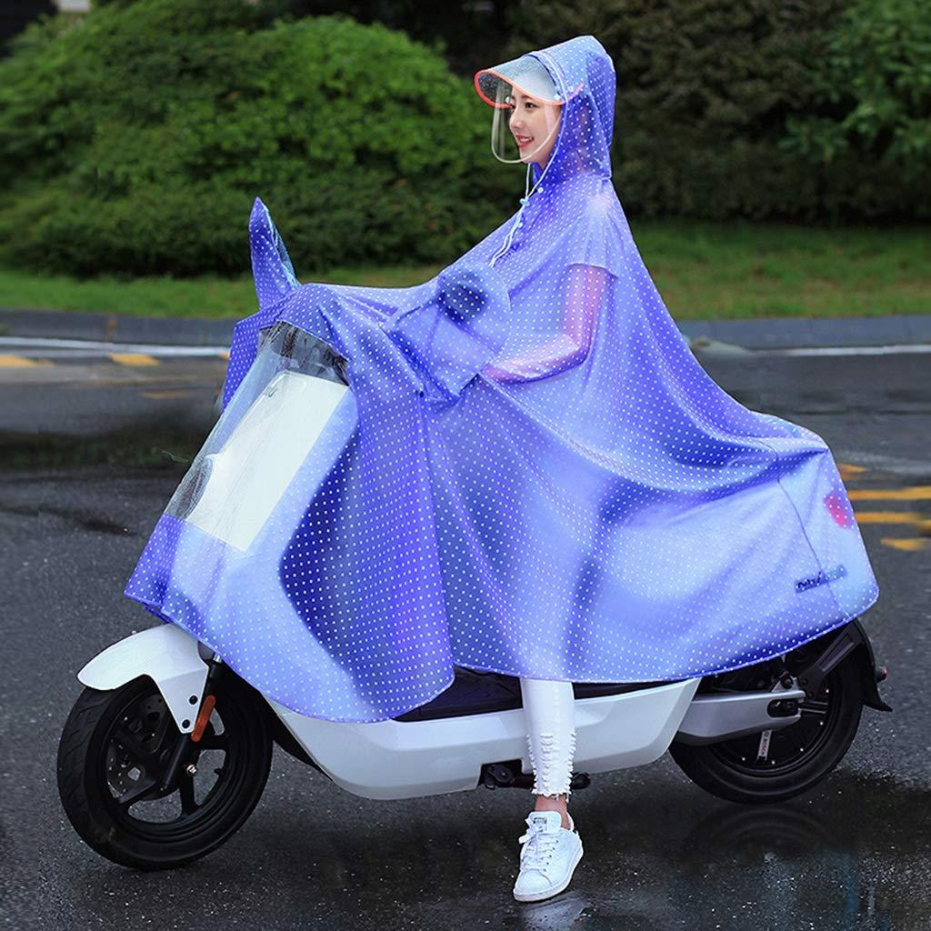 E XXXL Imperméable de Moto électrique de Poncho Transparent avec la Couverture de Miroir d'équitation Simple imperméable imperméable (Couleur   A, Taille   XXXL)