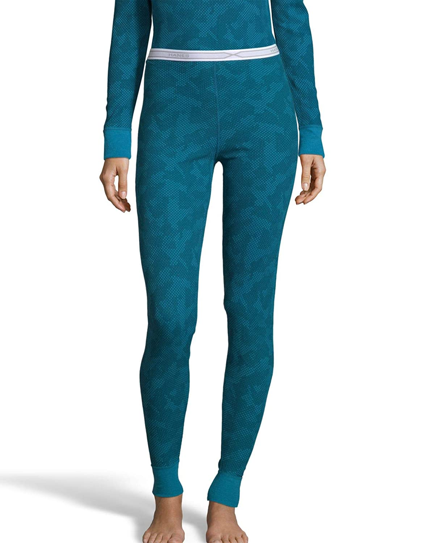 8216b840b198 Hanes Women's Tagless Thermal Waffle Knit Pant FreshIQ, X-Temp Technology &  Organic Cotton - Plus at Amazon Women's Clothing store: