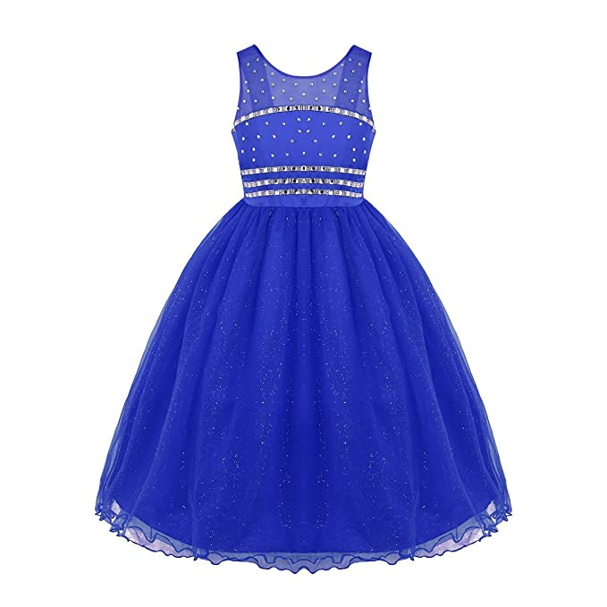 Alvivi Vestido Princesa Disfraz de Princesa Vestido Elegante Malla de Tul para Niñas Infantil Disfraz para