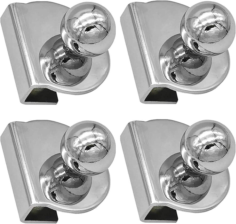 4 Piezas Tiradores para Puertas de Vidrio Pomos de Puerta de Ducha Tiradores de Aleación de Aluminio para Puerta de Baño Bouton de porte para vidrio Tirador para mueble con vitrina de 5-8 mm (B)