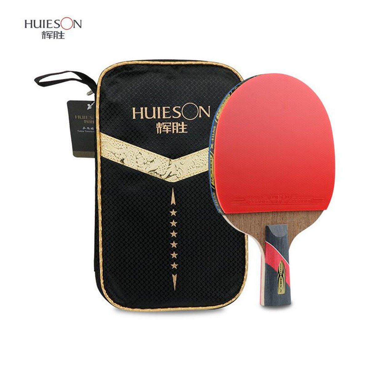 LANFIRE a 6 stelle ping-pong professionale di formazione professionale bilaterale anti-incollare ala di pollo tavolo da ping pong racchetta da ping-pong (long)