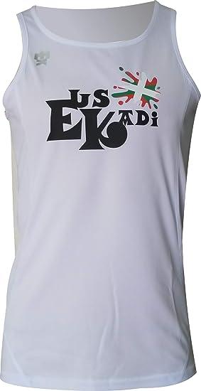 EKEKO SPORT Camiseta EUSKADI Tirantes para Running, Color Blanca ...