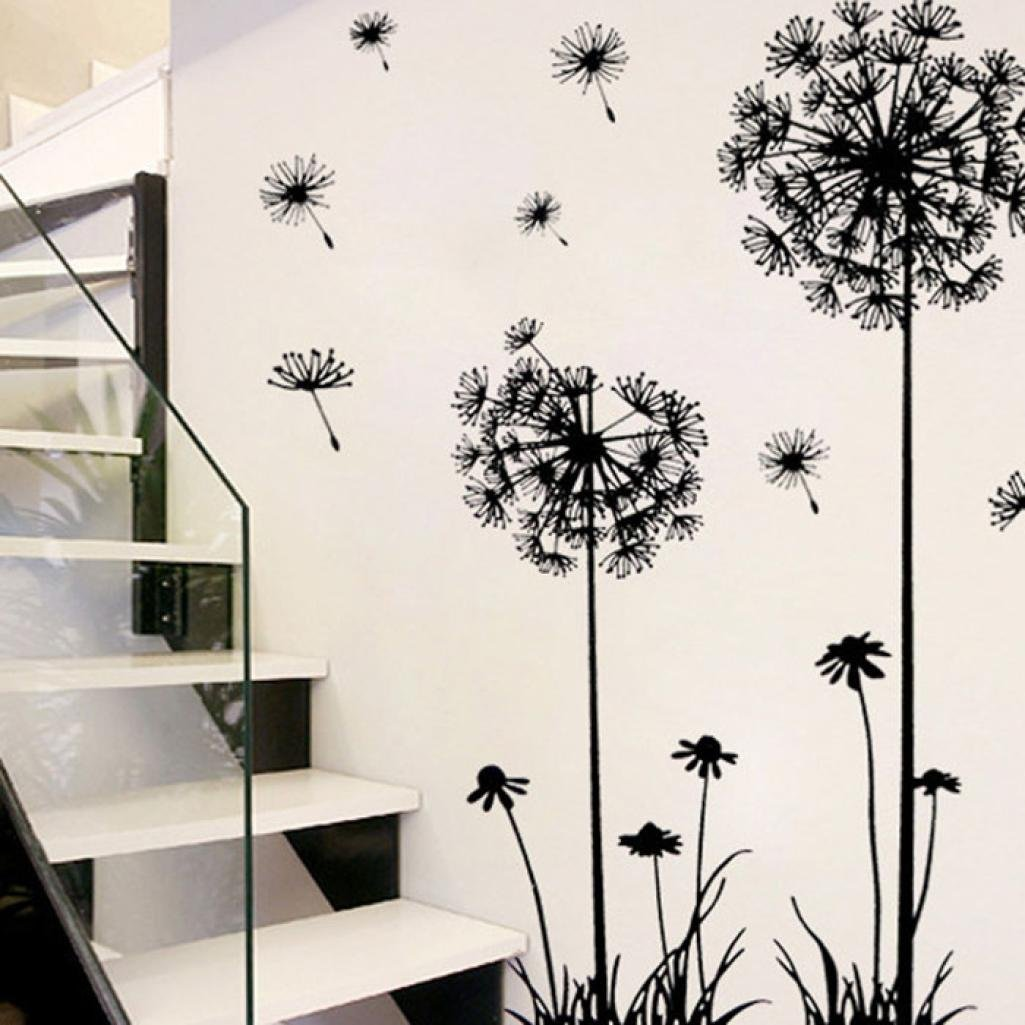 Fresh Flower Animal Wall Sticker Decal Removable PVC Wall Sticker Home Decor