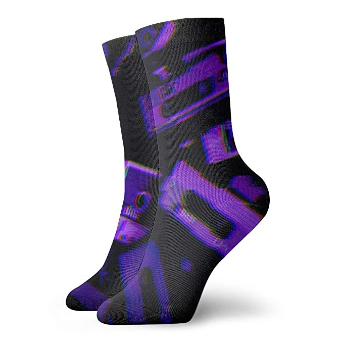 shizh Neon Aesthetic Hombres Mujeres Calcetines cortos 30cm ...