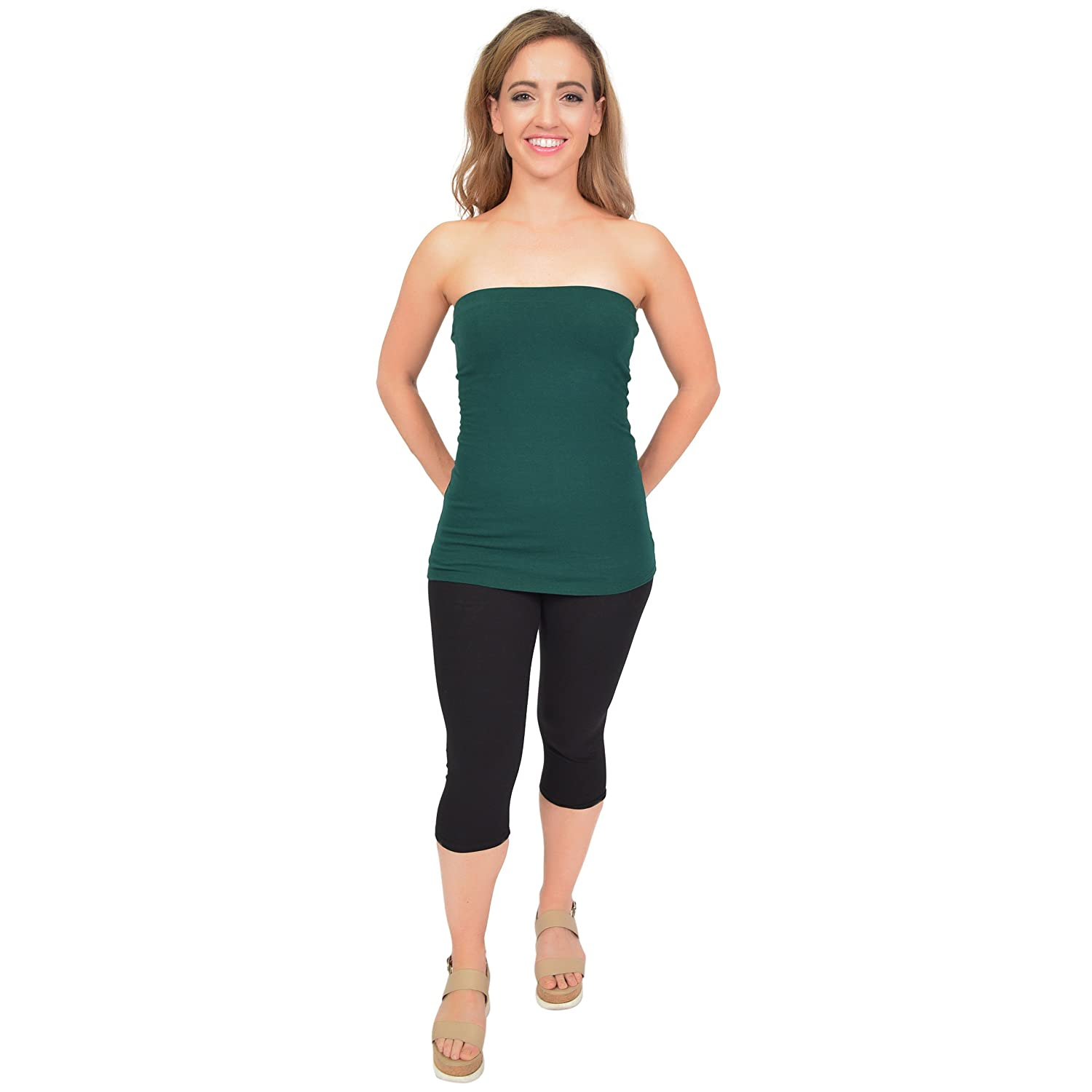 0292dae740 Stretch is Comfort Women s Cotton Strapless Tube Top at Amazon Women s  Clothing store