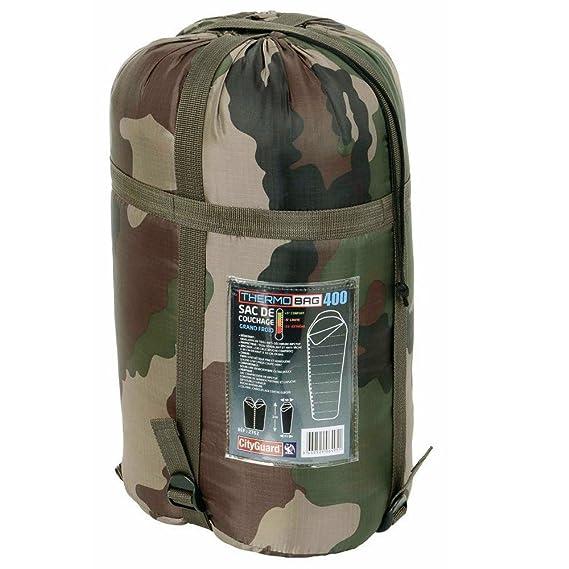 Saco de dormir Tempere Thermo Bag 400. Camping naturaleza, aire libre, militar, camuflaje.: Amazon.es: Deportes y aire libre