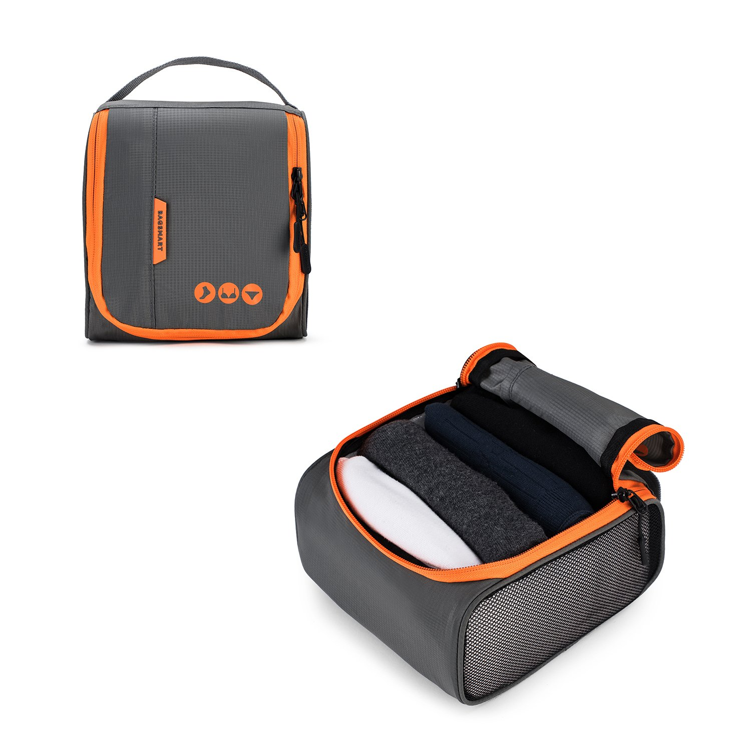 BAGSMART 6 Sets Packing Cubes 3 Sizes Portable Travel Luggage Organizer for Carry-on Accessories by BAGSMART (Image #6)