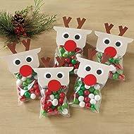 Reindeer Treat Bags - Set of 36 bag sets
