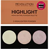 Revolution Shimmer, Radiant Light, I Love Makeup Highlighter Professional Makeup (Highlighter Palette Highlight)