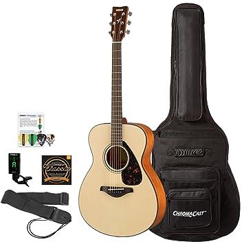 Yamaha FS800 con guitarra acústica madera natural de concierto con ...