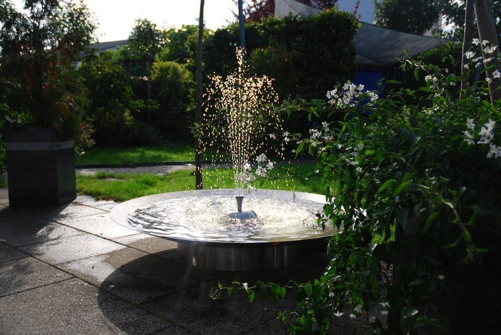 Seliger® - Fuente para jardín (acero inoxidable, con solite): Amazon.es: Jardín