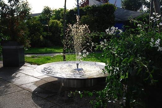 Fuente de jardín Seliger®, fuente de acero inoxidable, cuenco de agua con sopa: Amazon.es: Jardín