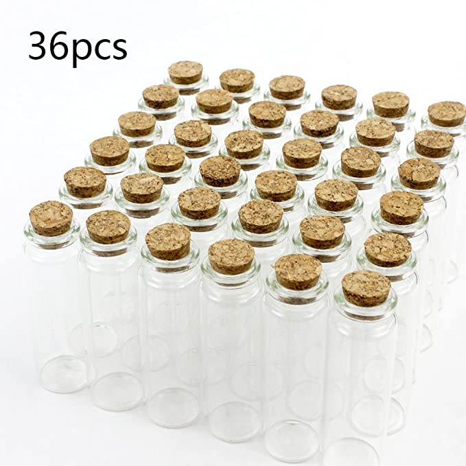 Amazon.com: Superlady - 36 botes de cristal pequeños de 25 ...