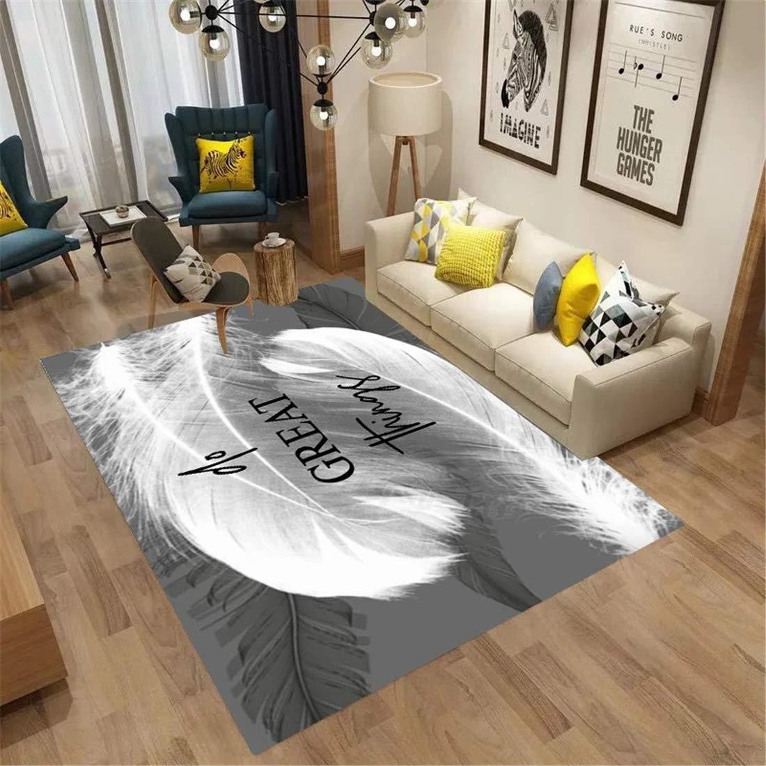 現代のシンプルさ 長方形 モダンなミニマリストのリビングルームのカーペット北欧の幾何学模様のフロアマットホームストアディスプレイカーペット カーペット 大きめ カーペット 薄手 絨毯 ラグ 通販 B07NVDYTVY SD-M009 160*230cm