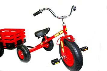Tow N Go >> Tow N Go Childrens Trike Tricycle With Trailer Red Amazon Co Uk