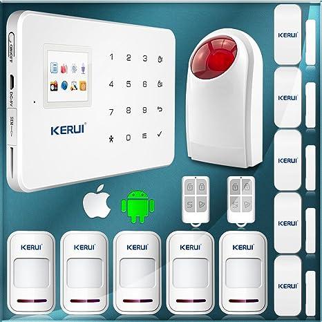 ARBUYSHOP KERUI Android IOS de control de aplicación de alarma teclado táctil GSM alarma sistema de