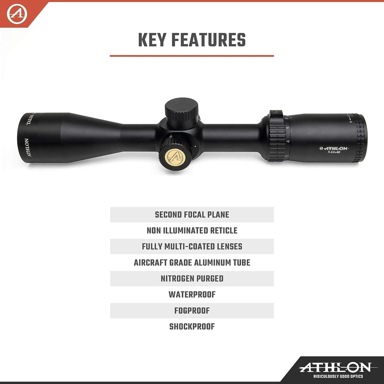 "Athlon Optics Talos Rifle Scope 1/"" Tube 3-12x40mm SFP Mildot 215004"