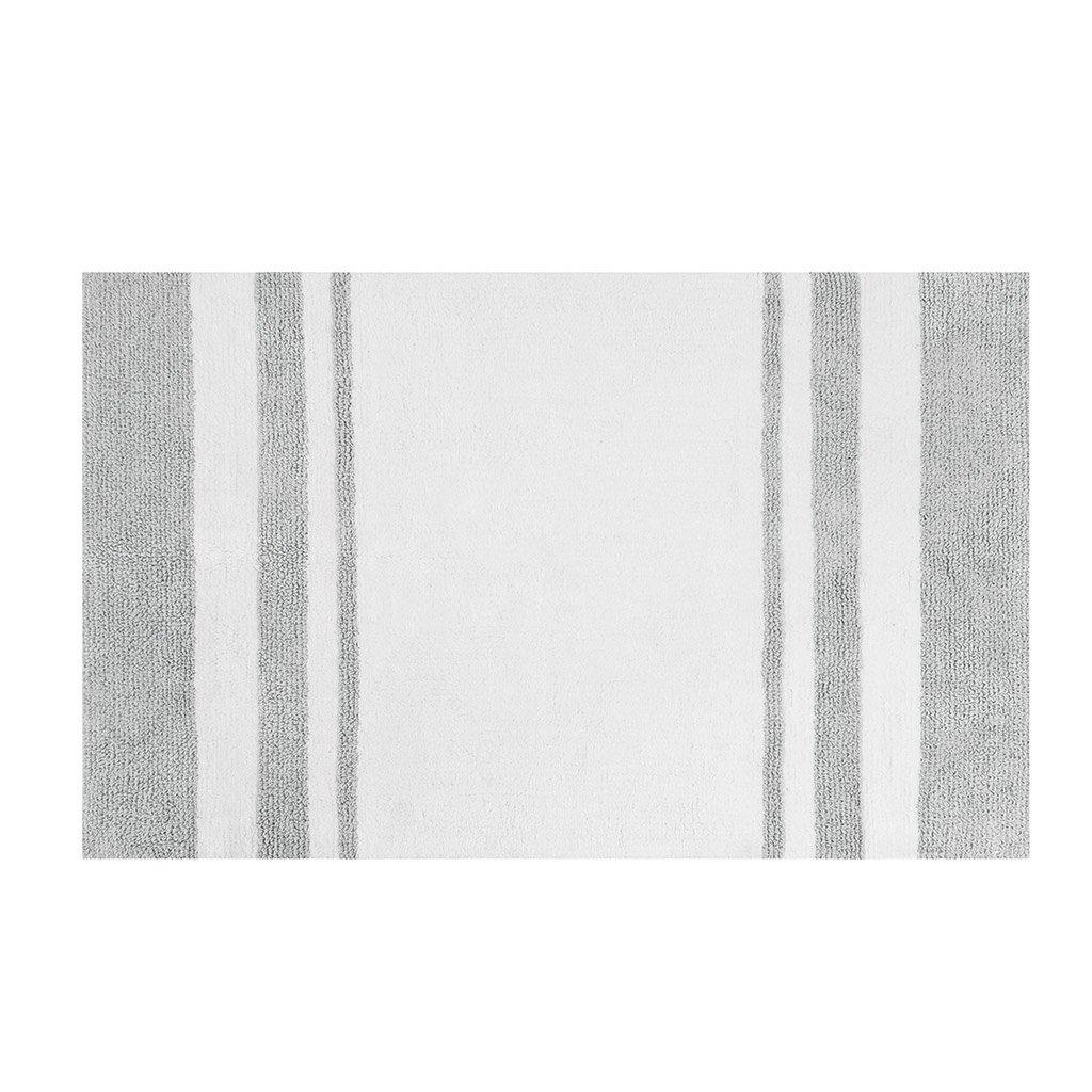 Amazon Madison Park Spa Cotton Reversible Bath Rug Taupe 24x72 Home Kitchen