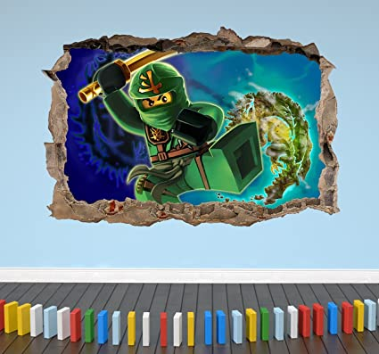 Pleasant Lego Ninjago 3D Breakout Smashed Wall Sticker Figures Toys Download Free Architecture Designs Scobabritishbridgeorg