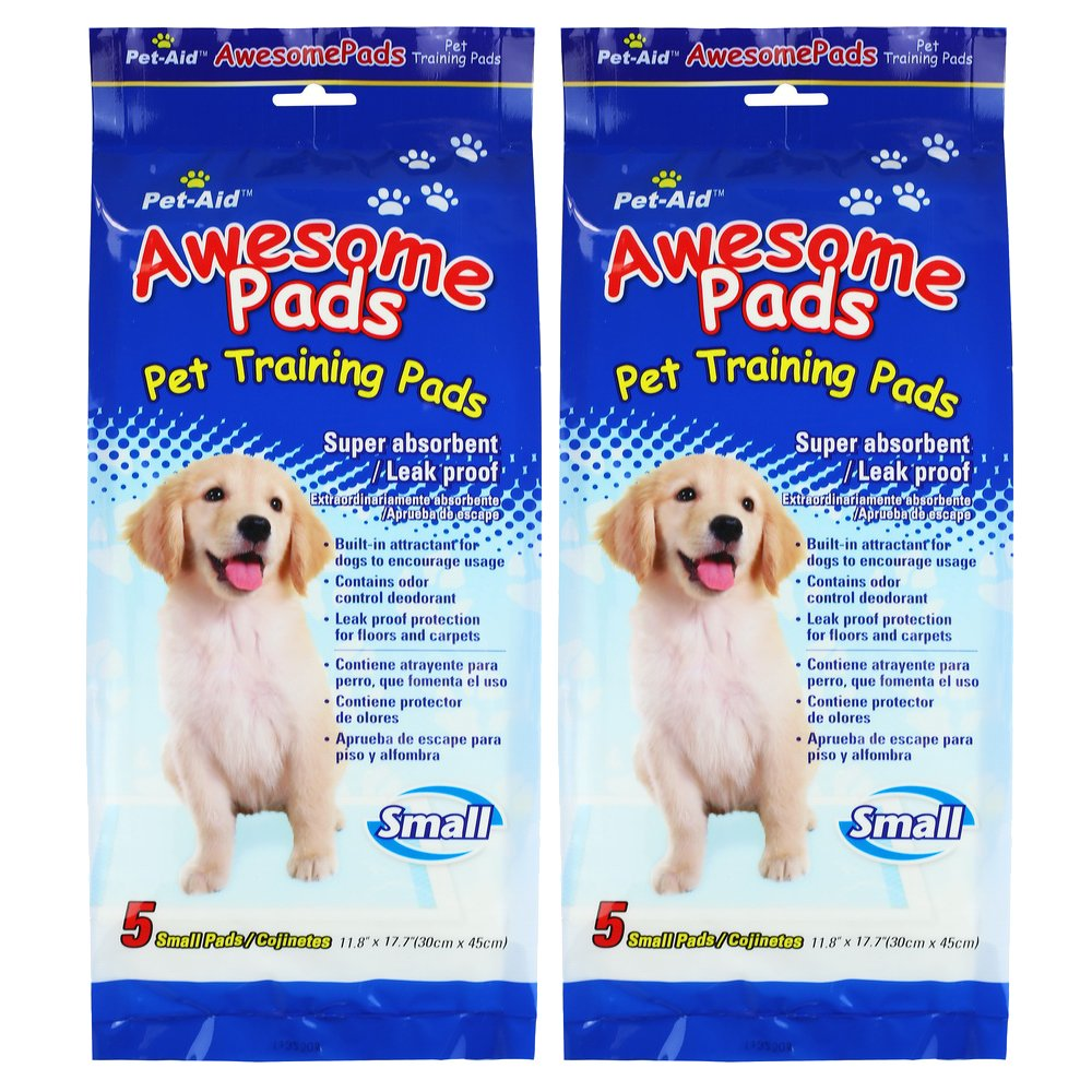 Pet-Aid Awesome Puppy Dog Training Pads Small 10-Count