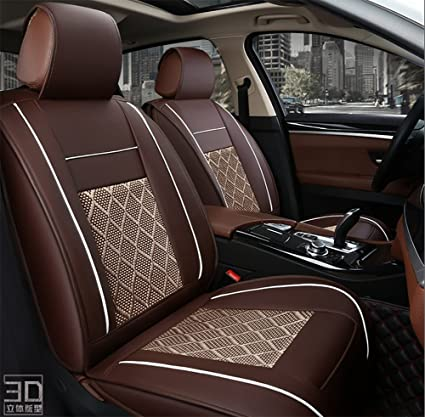 BMDHA Car Seat Covers Front Back Summer Ice Silk Cool Breathable Full Set
