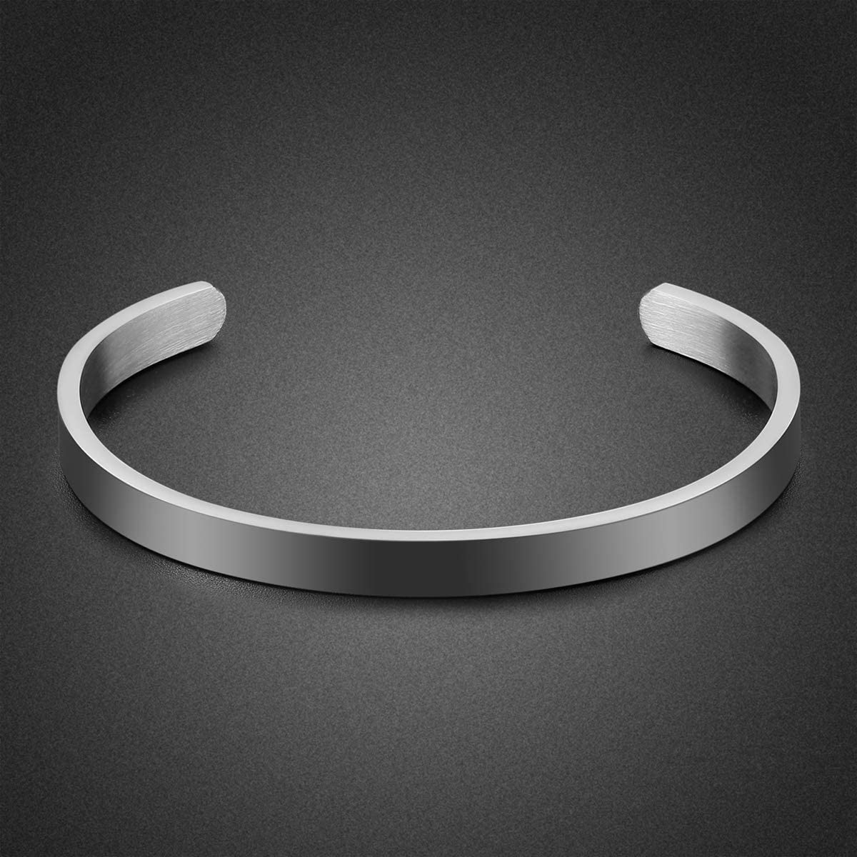 Daughter Bracelet Gifts Inspirational Gifts for Daughter Stainless Steel Engraved Crown Cuff Bracelet Birthday Gifts for Women Teen Girls