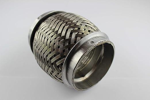 Flexrohr Interlock 63 5mm 2 5 Zoll Länge 100mm Flexstück Edelstahl 1 4301 Baumarkt