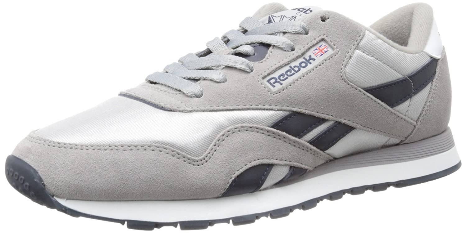 Reebok Men's Classic Nylon R13 Shoe, CarbonReebok Navy
