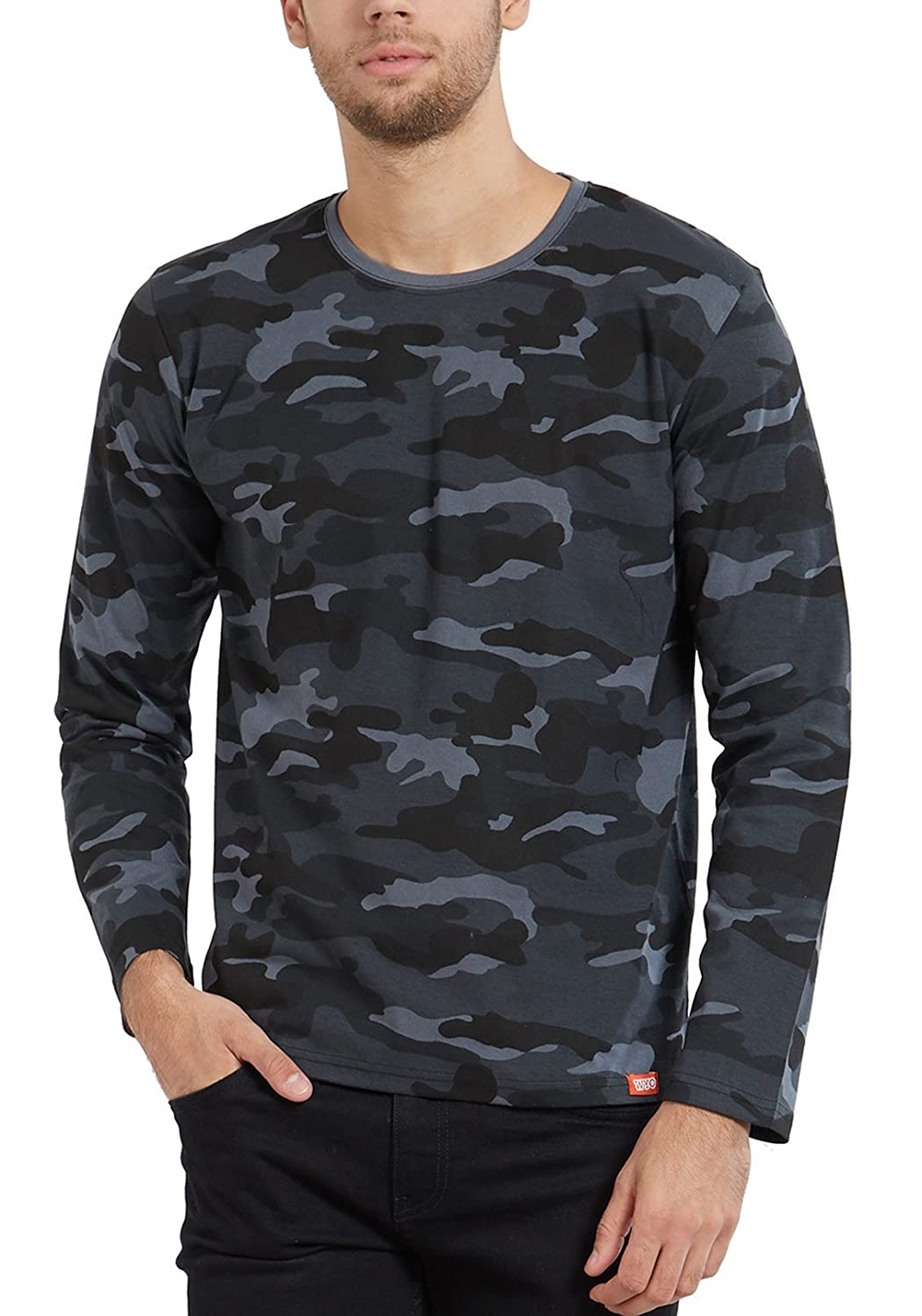 Wyo Wear Your Opinion Cotton T Shirt For Men Camoflauge Print Round