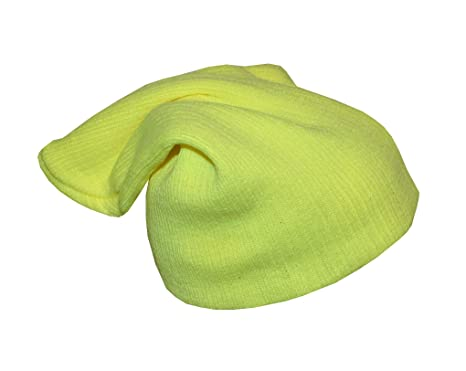 1778c746a5c Image Unavailable. Image not available for. Colour  Neon Yellow Large  Slouch Beanie Hat