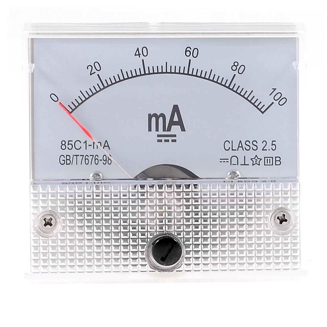 Klasse 2, 5 Genauigkeit DC 0– 100 mA Analog Current Meter Amperemeter 85 C1-ma Sourcingmap a13051400ux0379