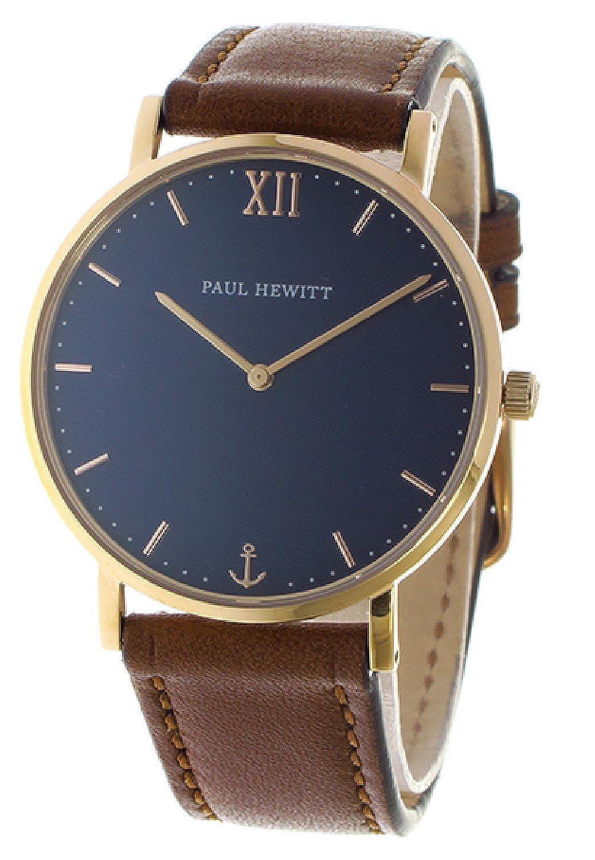 [ポールヒューイット] PAUL HEWITT 腕時計 セーラーライン Sailor Line 39mm PH-SA-R-ST-B-1M ブルーラグーン/ブラウン ユニセックス [並行輸入品] B074V92STG