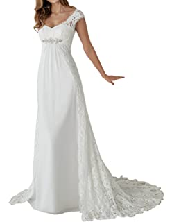 fae268f9cd Zhongde Empire Maternity Two Pieces Cap Sleeves Bridal Gown Wedding Dress  Bride