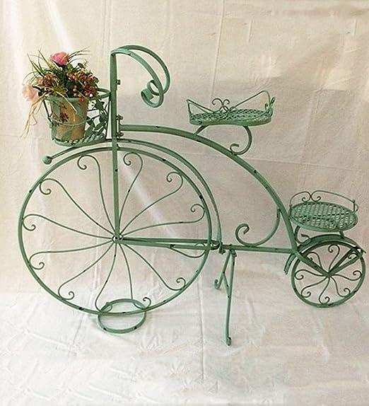 ZENGAI Macetero Hierro Bicicleta Boda Escaparate Retro Tienda ...