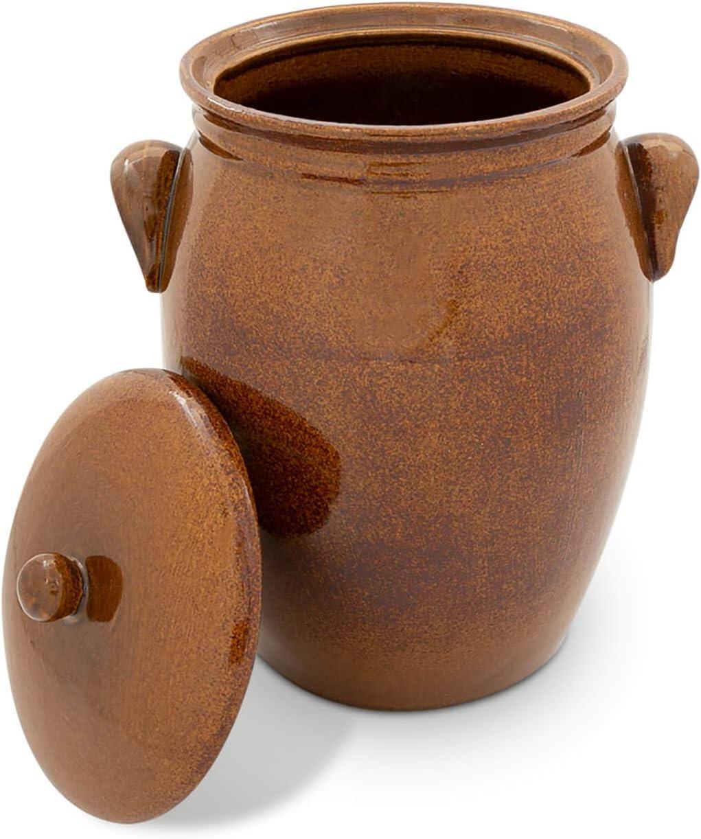 K&K - Olla de cerámica para conservar frutas en ron (5 l, forma 2)