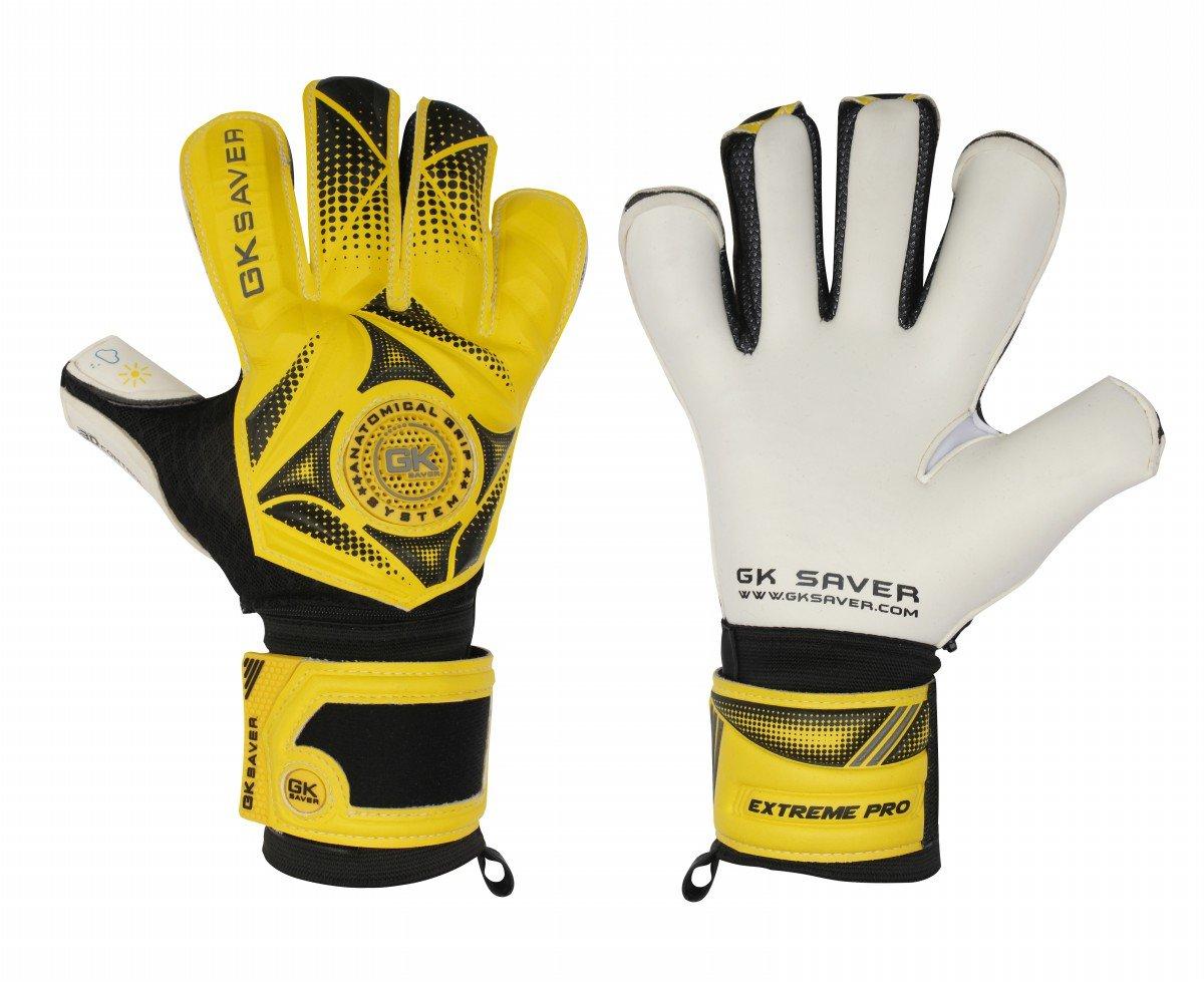 GK Saver Fußball mit 3D Torwart Winner 03-, Gelb-Handschuhe Pro