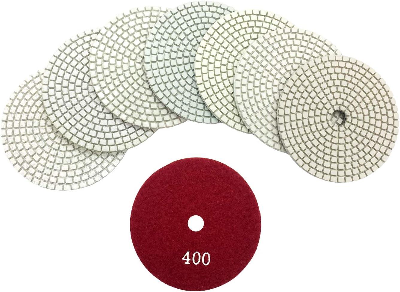 7 Inch Long Lasting 14 Polishing Pad Grit 50 100 200 400 granite concrete marble
