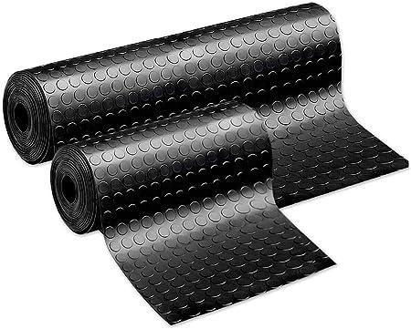 Copripavimento Pvc Rivestimento Pavimento Bullonato nero grigio Lavabile