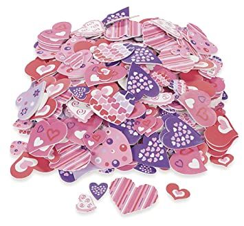 500 Colorful FUNKY HEART VALENTINEu0027S Day Foam STICKER SHAPES/Scrapbooking  SUPPLIES/Self Adhesive/
