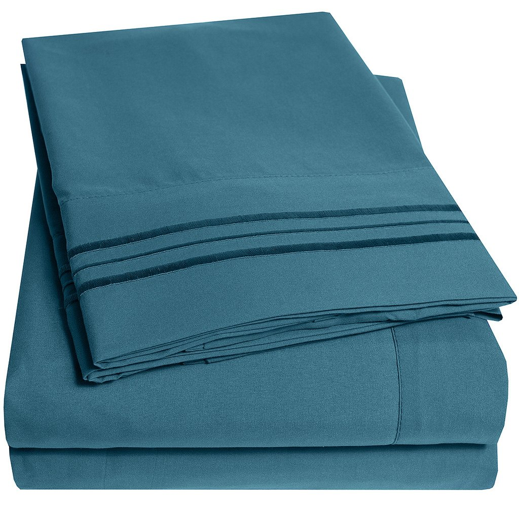 1500 Supreme Collection Extra Soft Twin XL Sheets Set, Teal - Luxury Bed Sheets Set With Deep Pocket Wrinkle Free Hypoallergenic Bedding, Over 40 Colors, Twin XL Size, Teal