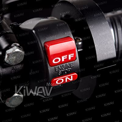 "KiWAV Black Engine Switch on/off 12v DC Electrical Motorcycle Scooter ATV Fit 7/8"" Handlebar: Automotive [5Bkhe2008535]"