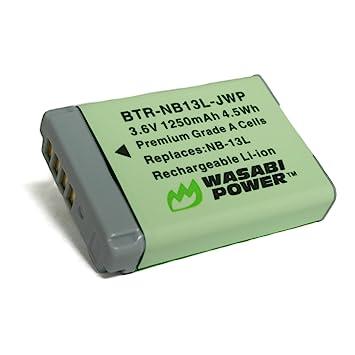 Amazon.com: Wasabi Power – Batería y Cargador para Canon NB ...