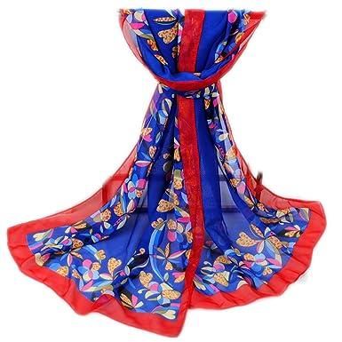 5de1204b948a9 Happy Star® - Echarpe - Femme - Bleu - Large  Amazon.fr  Vêtements ...