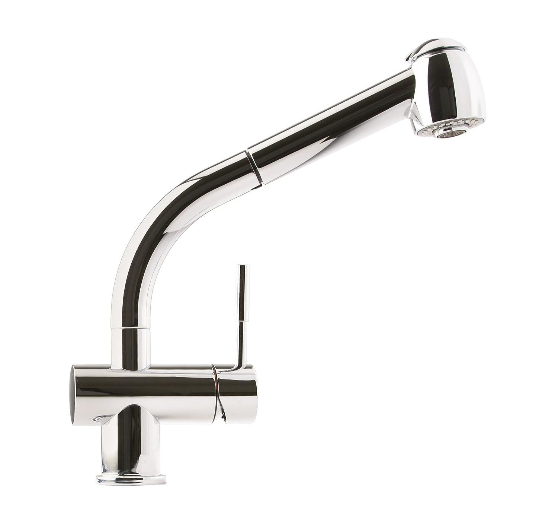 Franke FFPS700 Logik Single Handle Pull-Out Kitchen Faucet, Chrome