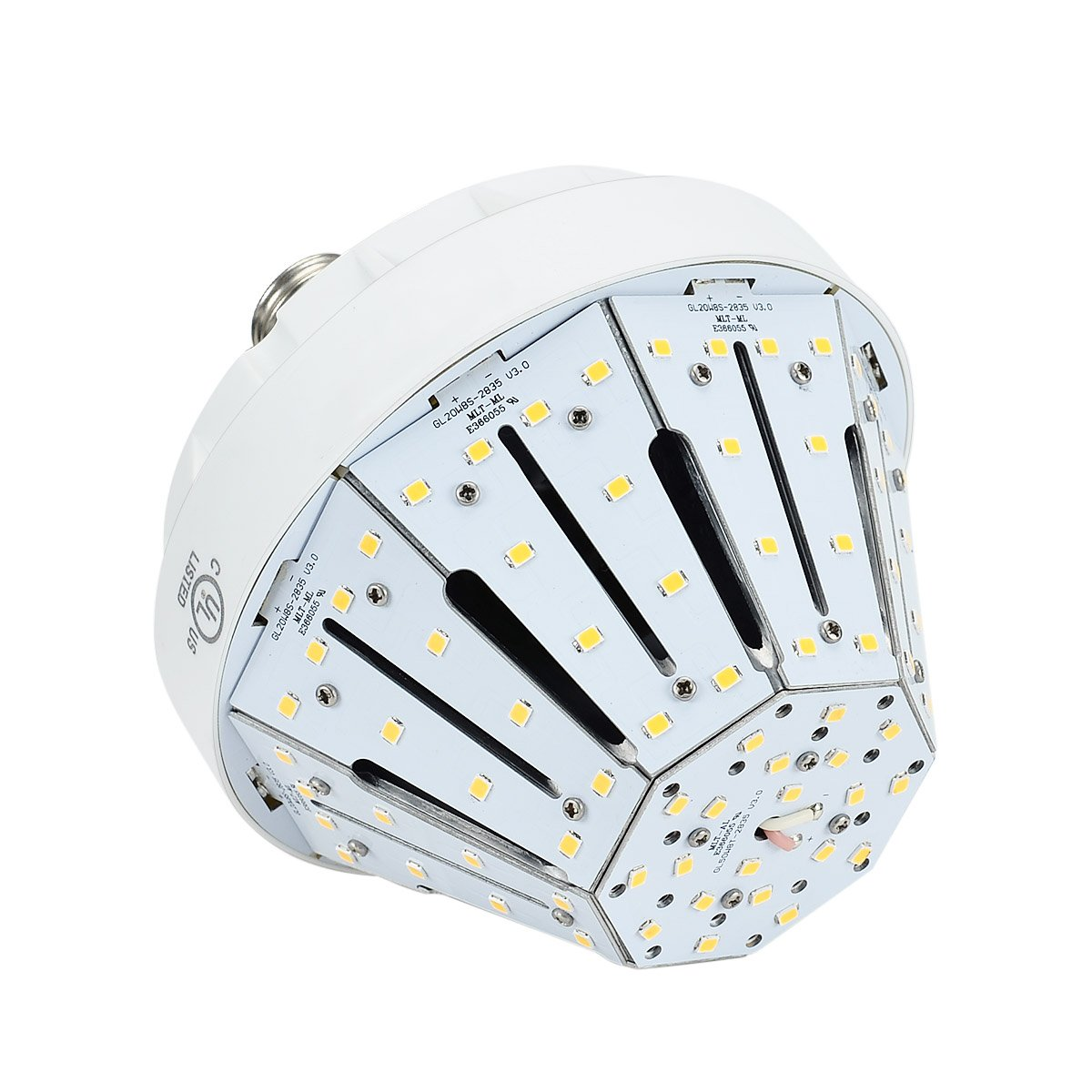 20W Daylight LED Corn Light Bulb for Indoor Outdoor Large Area - E26 3500Lm 5000K for Street Lamp Parking Lot Post Lighting Garage Warehouse High Bay Barn Porch Backyard Garden Airport Super Bright