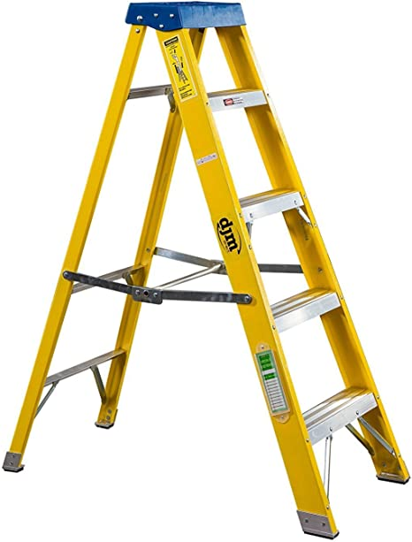 DJM Direct 5 escalera Electricistas resistente EN131 escalera de fibra de vidrio 30000 V: Amazon.es: Bricolaje y herramientas