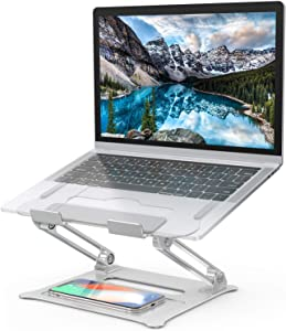 Laptop Stand, [Latest Upgraded 2020] Aluminum Computer Riser Multi-Angle Stand with Heat-Vent Portable Foldable Desktop Adjustable Laptop Stand Compatible with 10 to 17 Inch PC Notebook Tablets