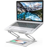 Laptop Stand, [Latest Upgraded 2020] Aluminum Computer Riser Multi-Angle Stand with Heat-Vent Portable Foldable Desktop…
