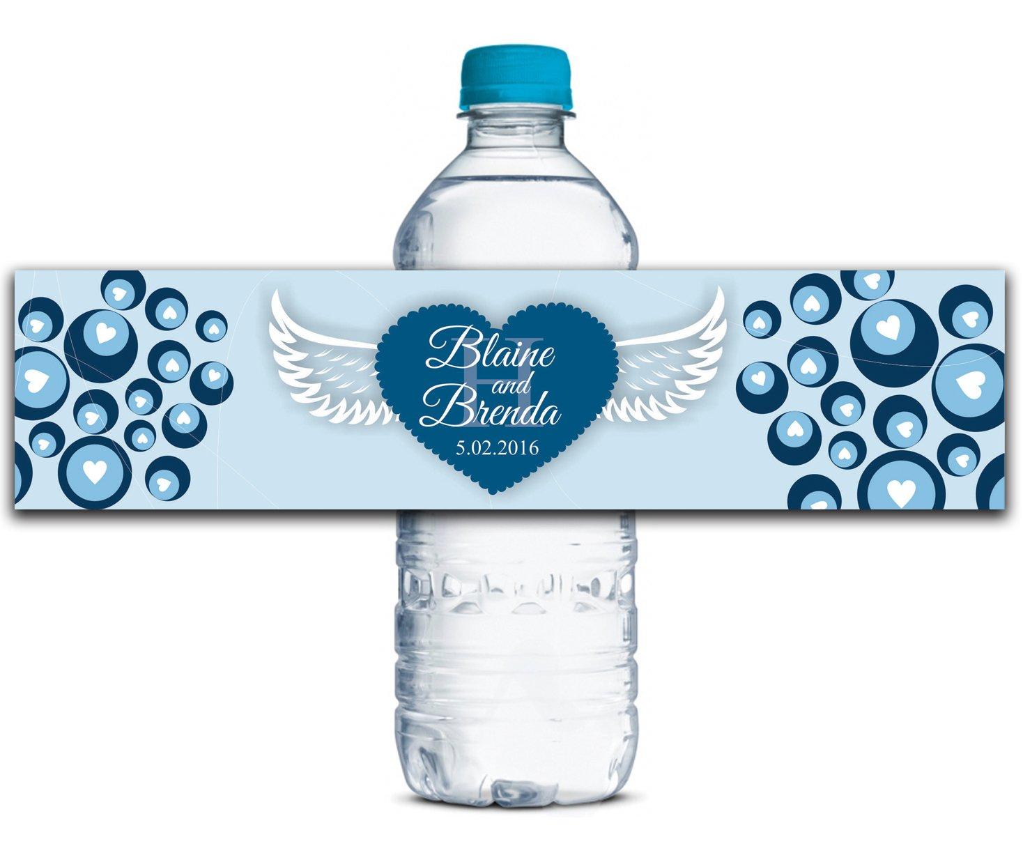 Personalisierte Wasserflasche Etiketten Selbstklebende wasserdichte Kundenspezifische Hochzeits-Aufkleber 8  x x x 2  Zoll - 70 Etiketten B01A0W2VGI | Bekannt für seine hervorragende Qualität  935c3d